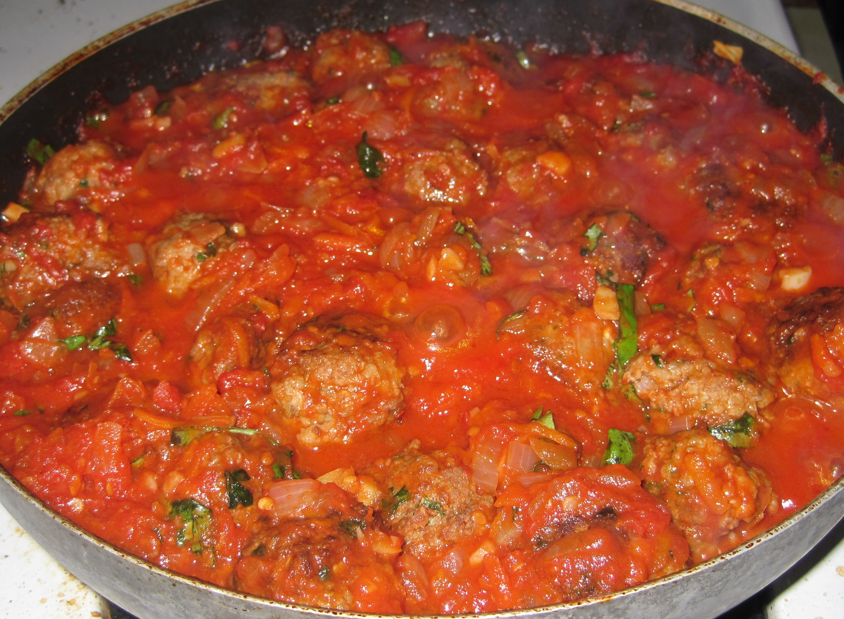 ... – Pork Meatballs with Marinara Sauce and Express Dobosch Torte